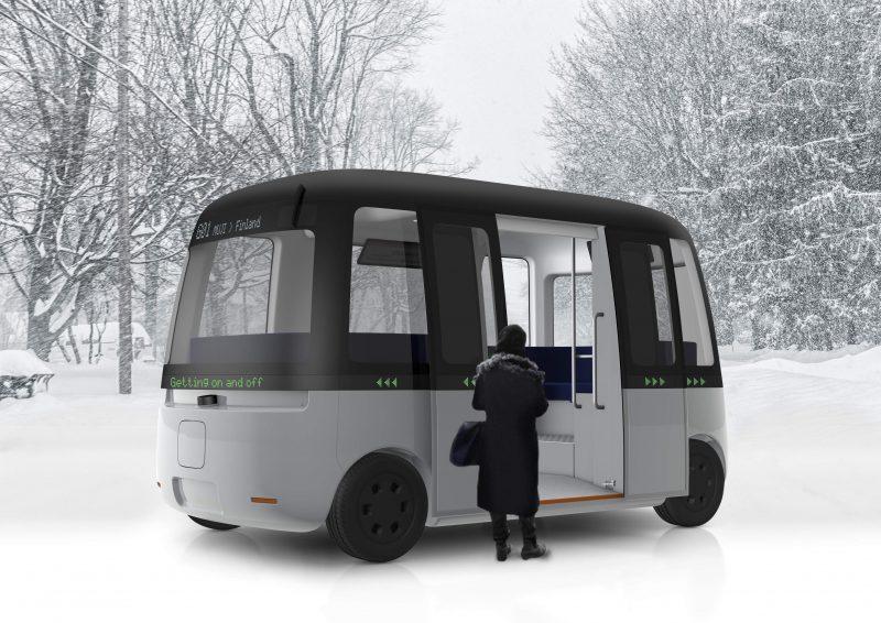 무인양품이 디자인한 자율주행 버스 가차 셔틀 Gacha Shuttle