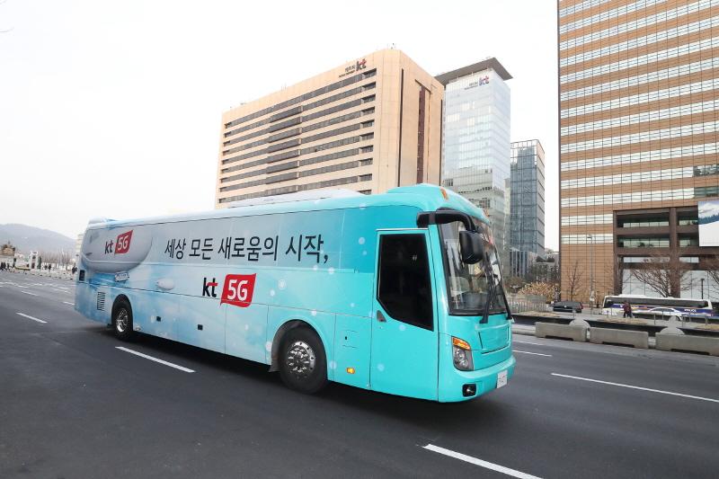KT '5G 버스'가 서울 광화문·강남 일대를 달린다