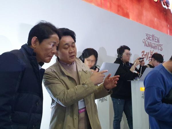 """[2019 지스타 현장] 방준혁 넷마블 의장 """"미래는 융합장르"""""""
