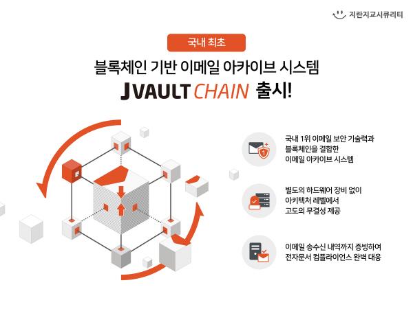 지란지교시큐리티, 블록체인 기반 이메일 아카이브 시스템 '제이볼트 체인' 출시