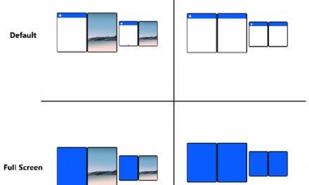 듀얼스크린용 윈도우의 UI