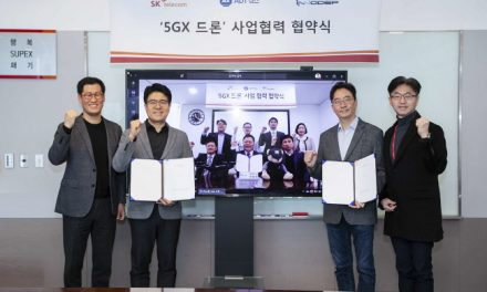 SKT·ADT캡스·이노뎁, '5GX 산업용 드론' 사업 공동 출사표