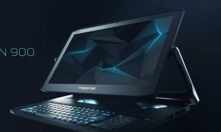 포스기처럼 생긴 상판 회전 노트북 에이서 프레데터 트리톤 900