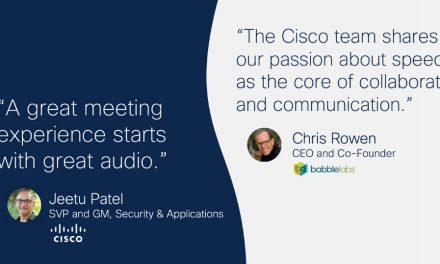 """""""훌륭한 회의 경험은 원활한 오디오에서 시작"""" 시스코, AI 소음제거 기술업체 인수"""